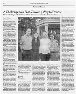 New York Times newspaper clip