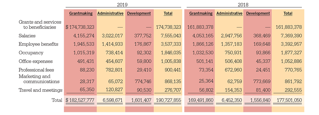 NYCT Functional Expenses 2019